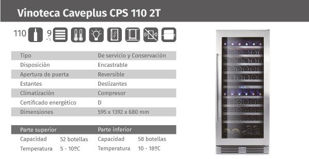 Ficha de producto Caveplus CPS 110 2T
