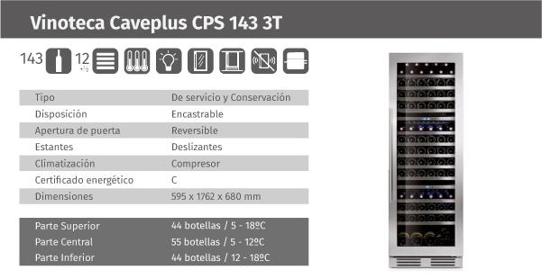 Ficha de producto Caveplus CPS 143 3T