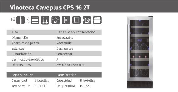 Ficha de producto Caveplus CPS 16 2T