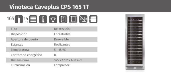 Ficha de producto Caveplus CPS 165 1T