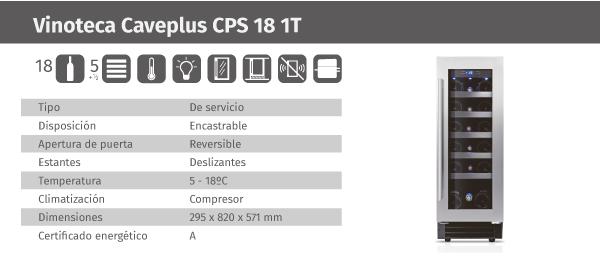 Ficha de producto Caveplus CPS 18 1T