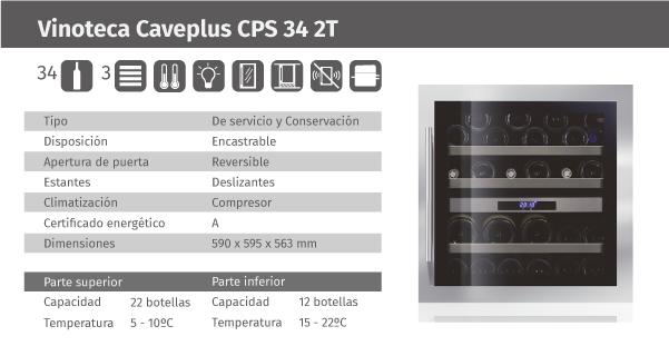 Ficha de producto Caveplus CPS 34 2T