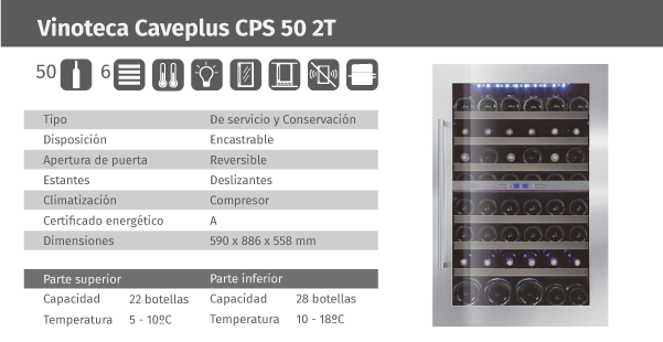 Ficha de producto Caveplus CPS 50 2T
