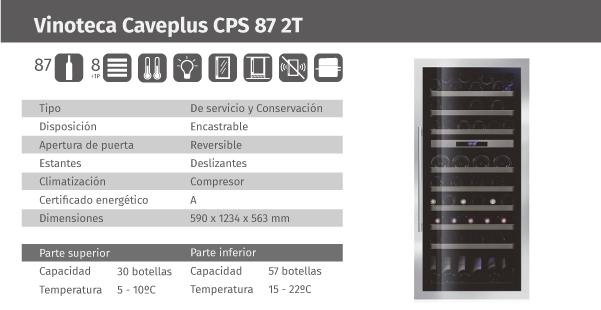 Ficha de producto Caveplus CPS 87 2T