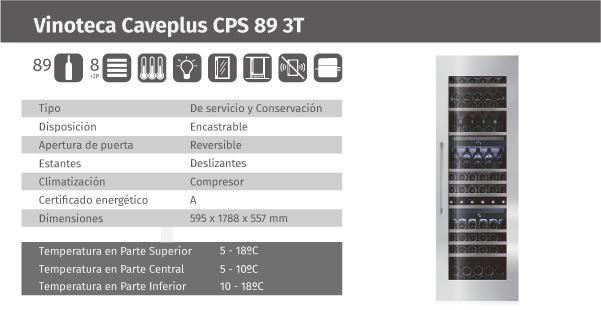 Ficha de producto Caveplus CPS 89 3T
