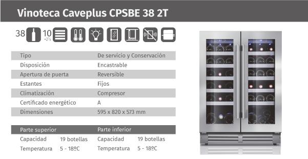 Ficha de producto Caveplus CPSBE 38 2T
