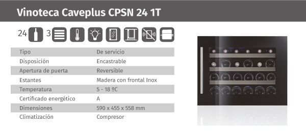 Ficha de producto Caveplus CPSN 24 1T