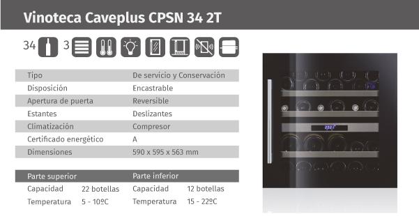 Ficha de producto Caveplus CPSN 34 2T