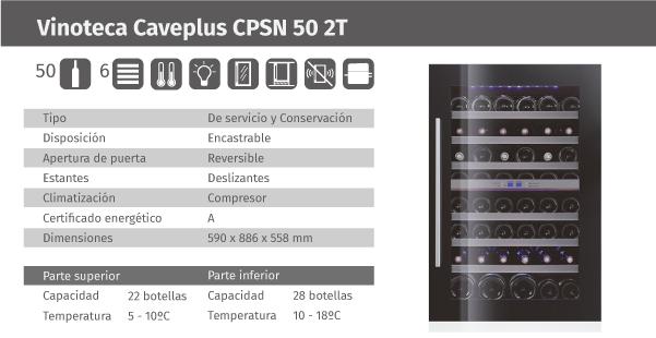 Ficha de producto Caveplus CPSN 50 2T