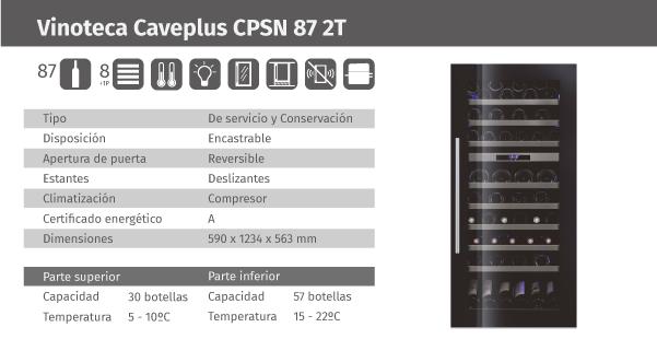Ficha de producto Caveplus CPSN 87 2T