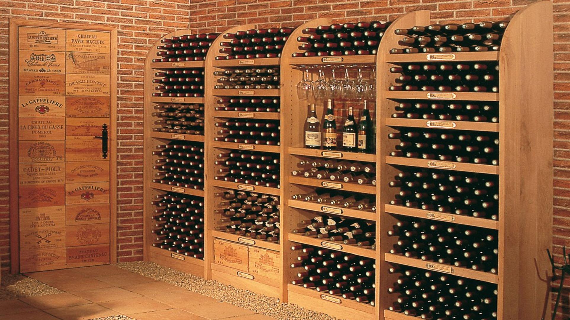 Fabricaci n de botelleros de vino a medida artesanales - Botelleros de madera para vino ...