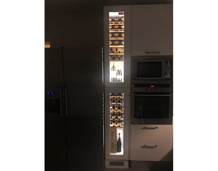 vinoteca a medida 2 temperaturas espacio magnum 2